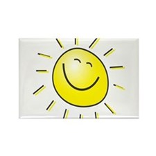 Smiling Sun Rectangle Magnet