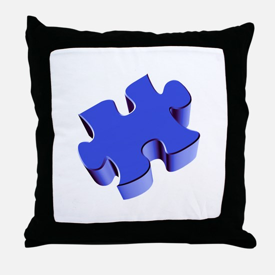 Puzzle Piece 2.1 Blue Throw Pillow