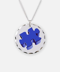 Puzzle Piece 2.1 Blue Necklace