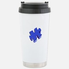 Puzzle Piece 2.1 Blue Travel Mug