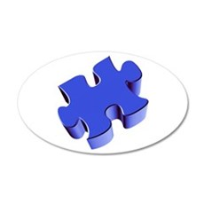 Puzzle Piece 2.1 Blue Wall Decal