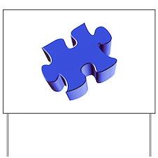 Puzzle Piece 2.1 Blue Yard Sign