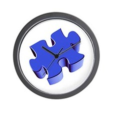 Puzzle Piece 2.1 Blue Wall Clock