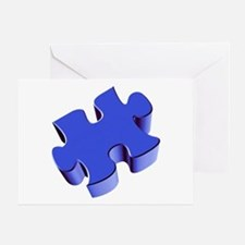 Puzzle Piece 2.1 Blue Greeting Card