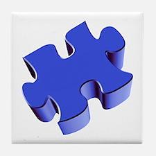 Puzzle Piece 2.1 Blue Tile Coaster