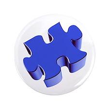"""Puzzle Piece 2.1 Blue 3.5"""" Button (100 pack)"""