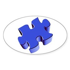 Puzzle Piece 2.1 Blue Decal