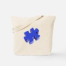 Puzzle Piece 2.1 Blue Tote Bag