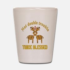 Twin Giraffes Shot Glass