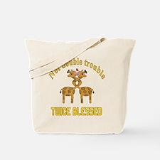 Twin Giraffes Tote Bag