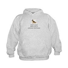 Keep calm and love a German Shepherd Hoodie