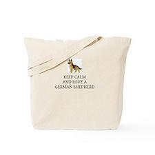 Keep calm and love a German Shepherd Tote Bag
