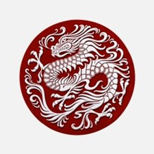 Traditional White and Red Chinese Dragon Circle 3.
