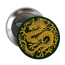 Traditional Golden Green Chinese Dragon Circle 2.2
