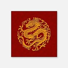 Traditional Golden Red Chinese Dragon Circle Stick