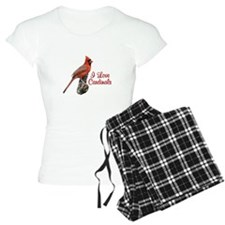I Love Cardinals Pajamas