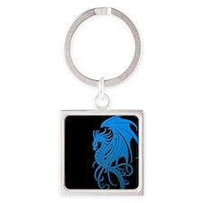 Flying Tribal Blue Dragon Keychains