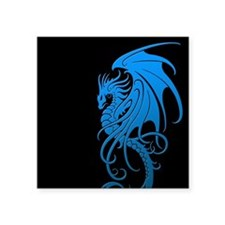 Flying Tribal Blue Dragon Sticker