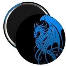 Flying Tribal Blue Dragon Magnets