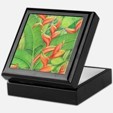 Hawaiian Heliconia Keepsake Box