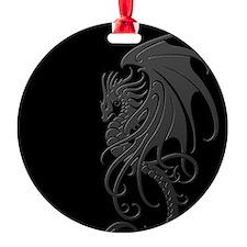 Flying Tribal Gray Dragon Ornament