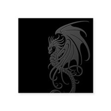 Flying Tribal Gray Dragon Sticker