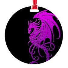 Flying Tribal Purple Dragon Ornament