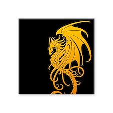 Flying Tribal Yellow Dragon Sticker