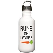 runs on veggies Water Bottle