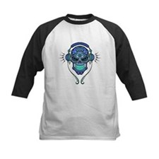 DJ Sugar Skull Blue Baseball Jersey