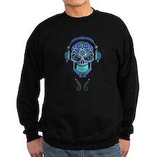 DJ Sugar Skull Blue Sweatshirt
