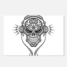 DJ Sugar Skull Postcards (Package of 8)