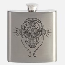 DJ Sugar Skull Flask
