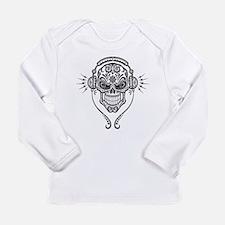 DJ Sugar Skull Long Sleeve T-Shirt