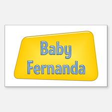Baby Fernanda Rectangle Decal