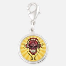 DJ Sugar Skull Red and Yellow Rays Charms