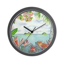 Hawaiian Mokuluas Wall Clock