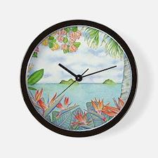 Hawaiian Mokuluas Wall Clock