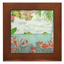 Hawaiian Mokuluas Framed Tile