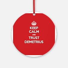 Trust Demetrius Ornament (Round)