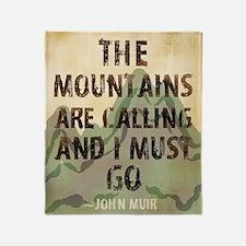 John Muir Mountains Throw Blanket