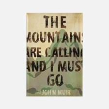 John Muir Mountains Rectangle Magnet