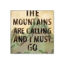 "John Muir Mountains Square Sticker 3"" x 3"""