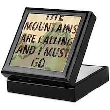 John Muir Mountains Keepsake Box