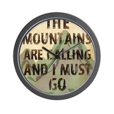 John Muir Mountains Wall Clock