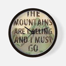 John Muir Mountains Wall Clock