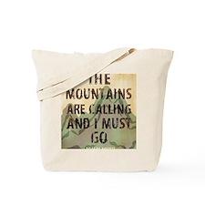 John Muir Mountains Tote Bag