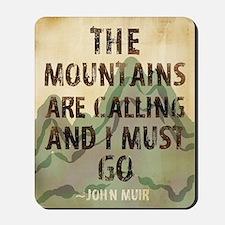 John Muir Mountains Mousepad