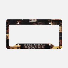 OL Tray Back Cropped License Plate Holder