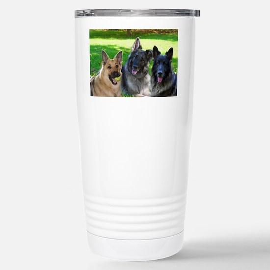 Happy Shiloh Shepherds Stainless Steel Travel Mug